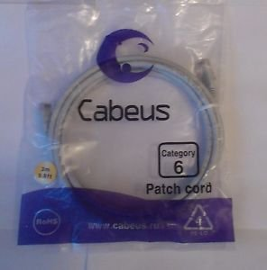 Cabeus Patch cord Category 6, RoHS , PE-LD 4 light gray