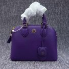 Authentic Tory Burch Purple Robinson Pebbled Leather Dome Satchel