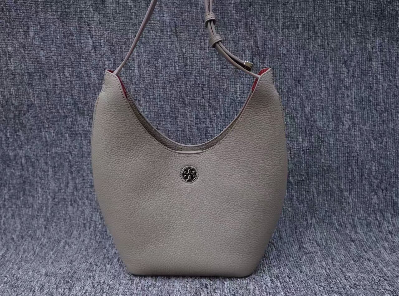 Authentic Gray Tory Burch Perry Small Hobo