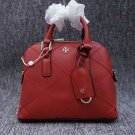 Tory Burch Red Robinson Stitched Mini Dome Satchel