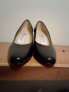 Etienne Aigner Shoes Pumps Black Leather Made In Spain Size 7.5M