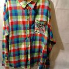 Satin In The Hood Size 6 X Flannel Plaid Very Decorative  Long Sleeve Shirt