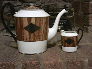 Fitz and Floyd Teapot and Creamer