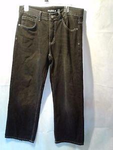 Avirex Black 5 Pocket Denim Jeans w/ Design on the Back Pocket 32/30