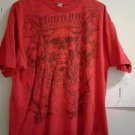 MIAMI INK - SKULLS & SWORDS -X LARGE RED T-SHIRT