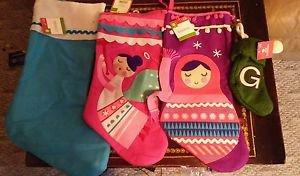 4 Christmas Stockings New w/ Tags