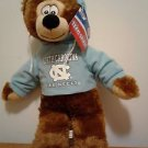 "Toy Factory North Carolina Tarheels Hoodie Hooded Plush Bear 13"" New with Tag"