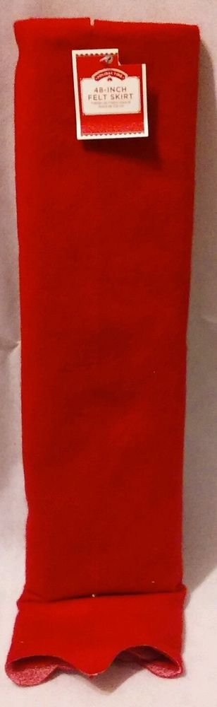 """Holiday Time 48"""" Red Felt Tree Skirt"""