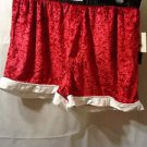 SANTA RED CRUSHED VELOUR FLY FRONT MAX DECO BOXERS M 32/34 NEW WITH TAG!