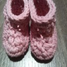 Handmade newborn booties by misspiggystore
