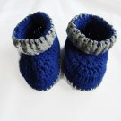 Baby booties by misspiggystore, crochet baby booties