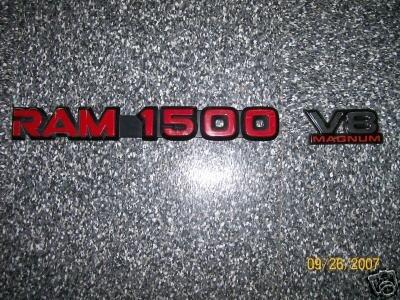 Dodge Ram Door Emblems