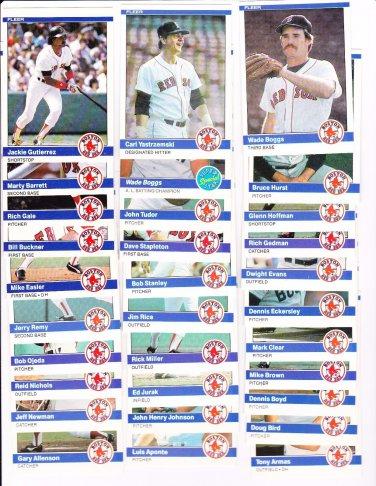Red Sox Check List 1984 Fleer (C00109)