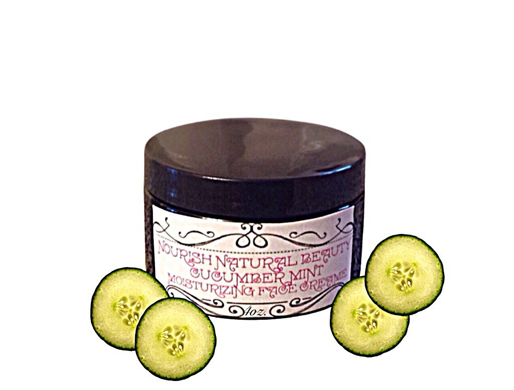 Cucumber mint moisturizing face cream