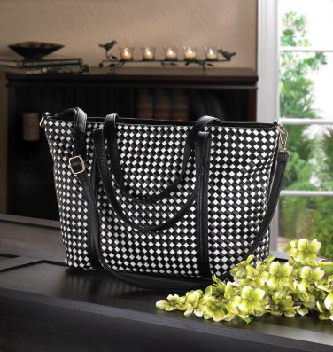 Checkered Tote Bag -10015990