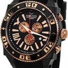 Aquaswiss 62XGR003 Mens Watch Rose Two Tone Black Swissport Quartz Chronograph Day Date Rubber