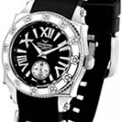 Aquaswiss 62LD013 Ladies Watch Stainless Steel Swissport Quartz Black Rubber Strap Diamonds