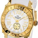 Aquaswiss 62M003  Ladies Watch Gold Tone Stainless Steel Swiss sport Quartz White Dial Rubber Strap