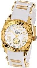 Aquaswiss 62M003  Ladies Watch Gold Tone Stainless Steel Swiss sport Quartz White Dial Rubber Strap
