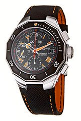 Baume and Mercier MOAO8797 Mens Watch Stainless Steel Riviera Automatic Black Dial Leather Strap