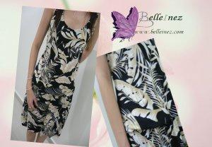 Beautiful Floral Dress With Elastic Waistline