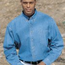 Tri-Mountain Denim Shirt, Large