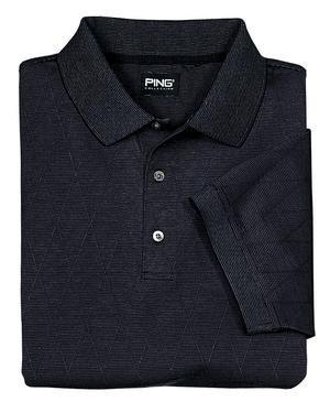 Ping Argyle Golf Shirt, Black, Small