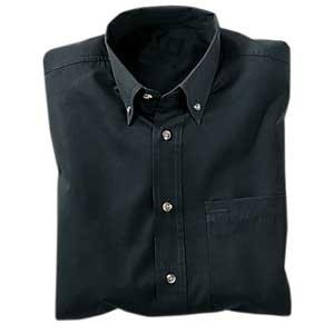 Heavyweight Easy Care Shirt, Black, 2XL