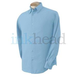 Cubavera Silk Shirt, Blue, Medium