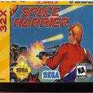 Space Harrier (Sega Genesis 32X) – Reproduction Video Game Cartridge