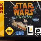 Star Wars Arcade (Sega Genesis 32X) – Reproduction Video Game Cartridge