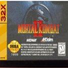 Mortal Kombat II 32X (Sega Genesis 32X) – Reproduction Video Game Cartridge