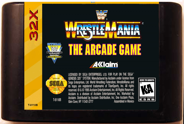 WWF Wrestlemania: The Arcade Game (Sega Genesis 32X) � Reproduction Video Game Cartridge