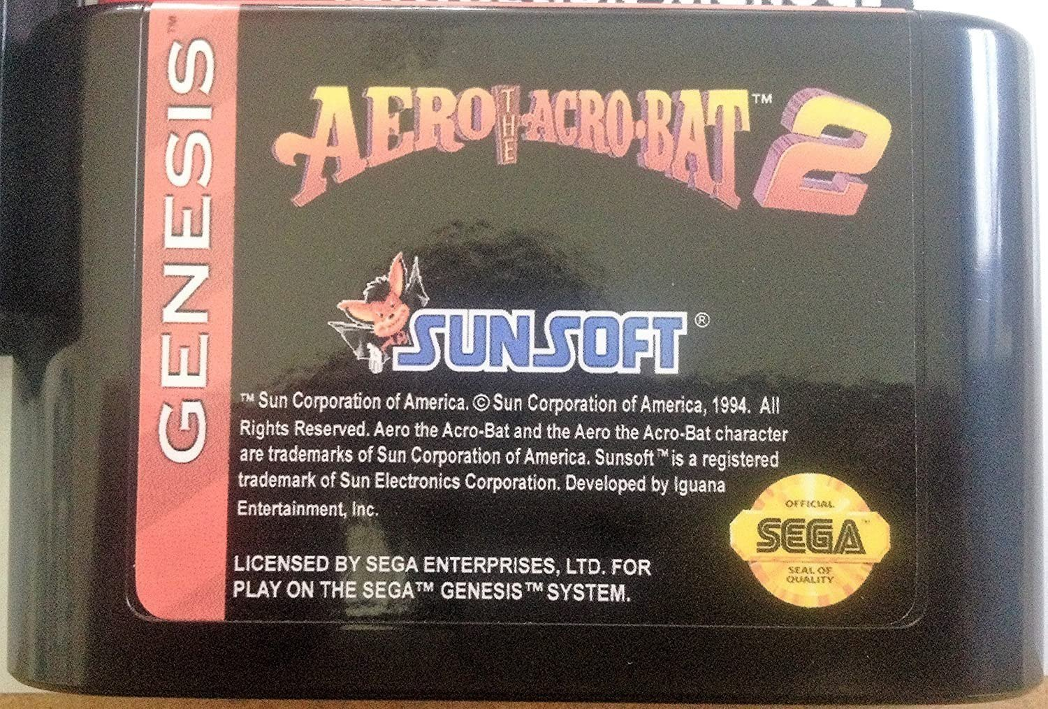 Aero the Acro-Bat 2 (Sega Genesis) � Reproduction Video Game Cartridge