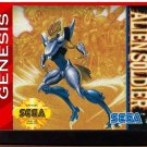 Alien Soldier (Sega Genesis) – Reproduction Video Game Cartridge