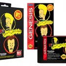 Beavis and Butt-Head (Sega Genesis) – Reproduction Video Game Cartridge with Case and Manual