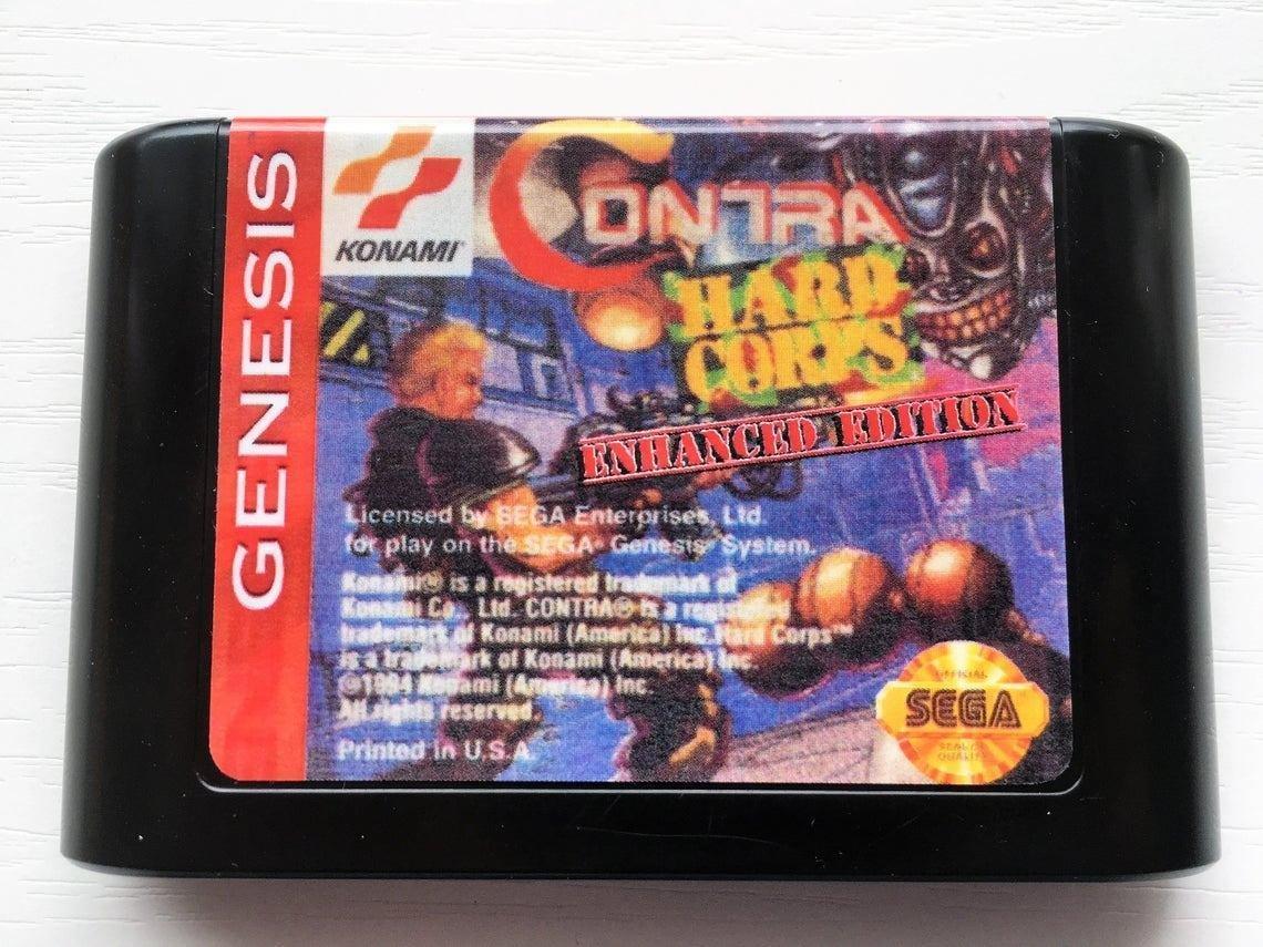 Contra: Hard Corps Enhanced Edition (Sega Genesis) � Reproduction Cartridge