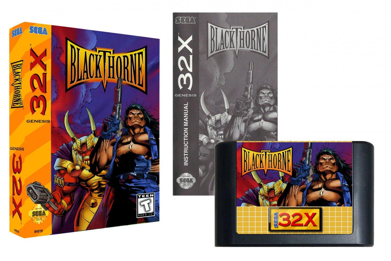 Blackthorne (Sega Genesis 32X) � Reproduction Video Game Cartridge with Box and Manual