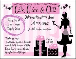 Ticket--Gals, Glam & Glitz 11.16.07