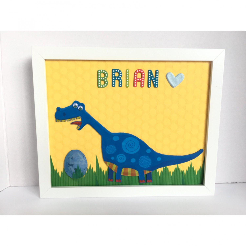 Personalized  Dinosaur Kids Wall Room Decor