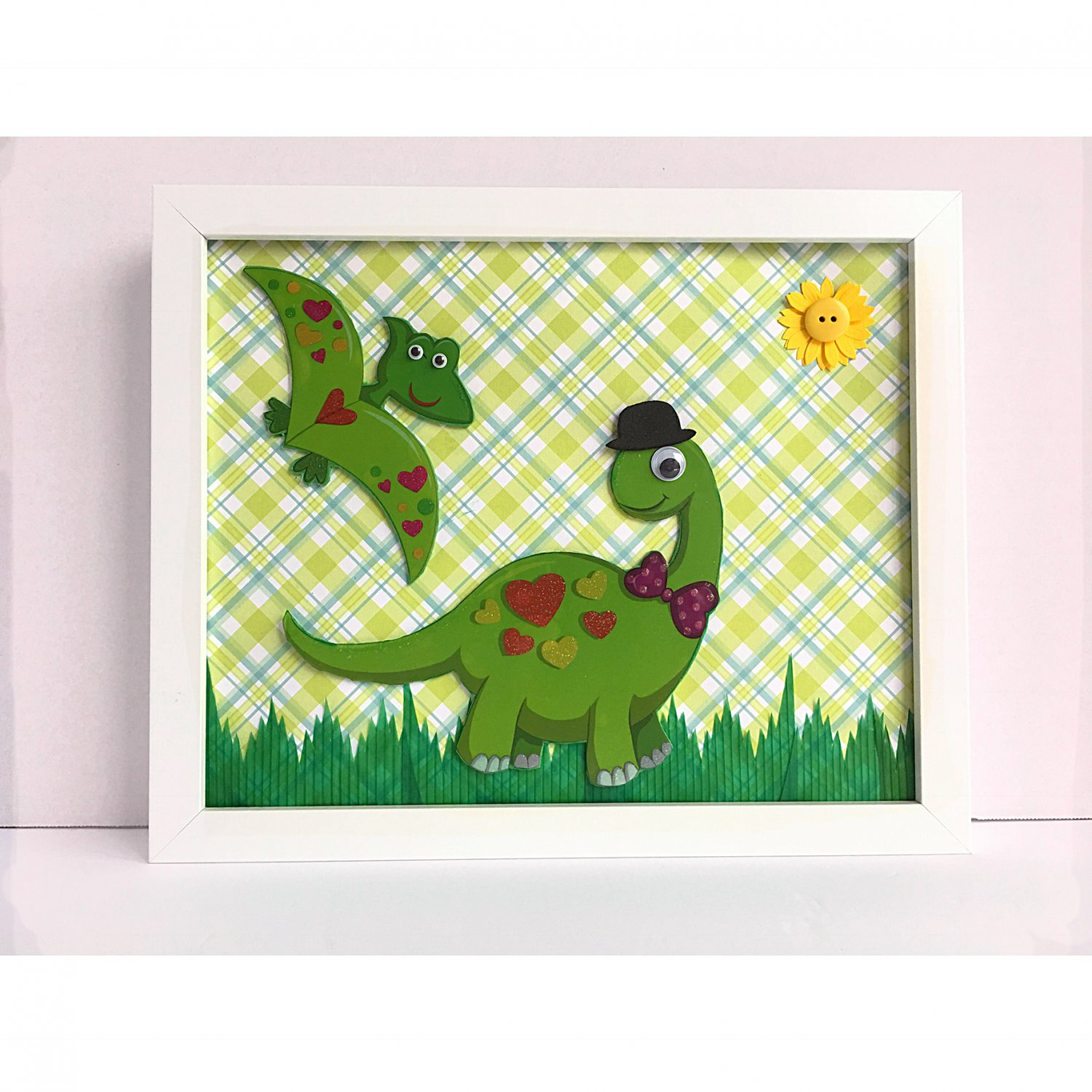Green dinosaur kids wall room decor for Kids dinosaur room decor