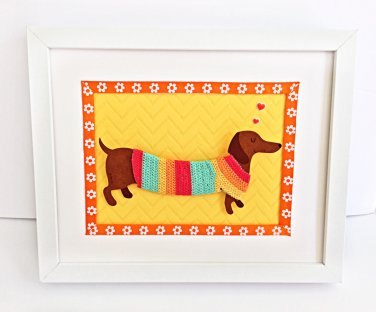 Puppy Nursery Art. Puppy Framed.  Kids Wall Decor