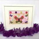 Girl Nursery Butterfly  Baby Girl Butterfly framed ,, Kids Butterfly Room Decor.