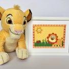 Lion Kids Framed, Art Wall Lion Decor, Lion Nursery Orange Decor