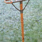 Original antique gentlemans shooting stick walking stick cane seat bamboo brass
