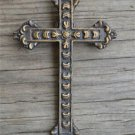 Small antique style brass holy cross crucifix HC1