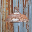 LARGE RUSTY STEAMPUNK METAL CEILING LIGHT SHADE HANGING PENDANT LAMP BL15