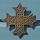 Ancient brass Knights Templar cross celtic star wall cross Maltese emblem