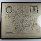 Original antique map of Worcester and its hundreds by Richard Blome 1673