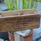 Handmade vintage pine wine merchants crate rope handles box S3